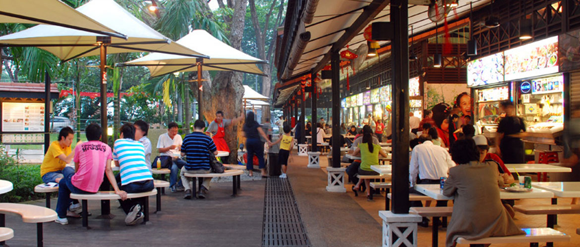 Food Center Food Court in Singapore